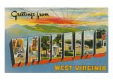 Greetings from Wheeling, West Virginia Prints