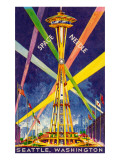Poster, Space Needle, Seattle, Washington Prints