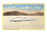 Racer, Bonneville Salt Flats, Utah Poster