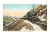 Locomotive on Continental Divide Prints