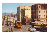 Powell Street, Cable Cars, San Francisco, California Posters