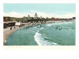 Strand, Narragansett Pier, Rhode Island Poster