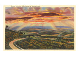 Sunset over the Alleghenies, Pennsylvania Prints