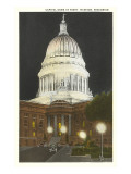 Night, State Capitol, Madison, Wisconsin Posters