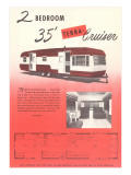 Travel Trailer Advertisement, Terra Cruiser Prints