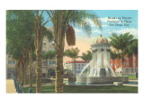 Broadway Electric Fountain, San Diego, California Prints