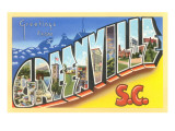 Greetings from Greenville, South Carolina Posters