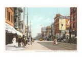 Early Downtown Street Scene, San Diego, California Prints