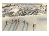 Skiing on Mazama Ridge, Mt. Rainier, Washington Prints