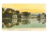 Carp Pond by Fontainebleau Palace, France Art