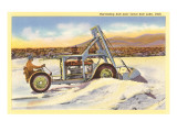 Harvesting Salt near Great Salt Lake, Utah Posters