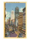 Market Street with Cable Cars, San Francisco, California Poster