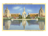 Buildings from World's Fair, San Francisco, California Print
