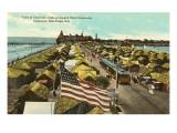 Tent City, Hotel del Coronado, San Diego, California Posters