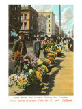 Flower Sellers, San Francisco, California Prints