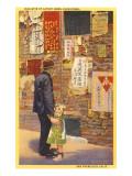 Leyendo las noticias en Chinatown, San Francisco, California Pósters