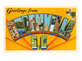 Greetings from Greenville, South Carolina Poster
