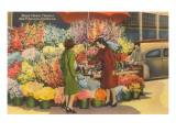 Flower Seller, San Francisco, California Posters