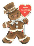 Happy Valentines Day, Gingerbread Man Prints