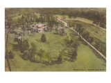 Aerial View of Monticello, Charlottesville, Virginia Prints