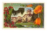 Merry Christmas, Courthouse, Santa Barbara, California Prints