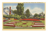 Floral Clock, Roger Williams Park, Providence, Rhode Island Prints