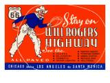 Autopista de Will Rogers, Route 66 Póster