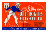 Will Rogers Highway, Route 66 Poster