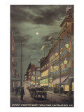 Moon over Dupont Street, Chinatown, San Francisco, California Prints