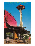 Space Needle, World's Fair Building, Seattle, Washington Poster