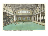 Pool, Greenbrier Hotel, White Sulphur Springs, West Virginia Posters