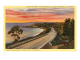 Coast Highway, Santa Barbara, California Posters