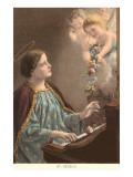 St. Cecelia at Piano with Putti Posters