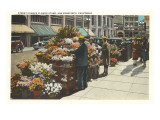 Street Flower Stand, San Francisco, California Art