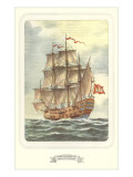 Four-Masted Square-Rigged Ship Prints