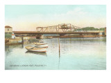 Red Bridge over Seekonk River, Providence, Rhode Island Poster