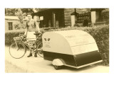 Small Homobile Trailer with Bike Prints