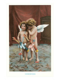 Conspirators, Two Victorian Cupids Print