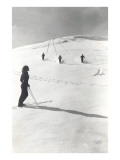 Skiers Making Tracks Poster