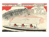 Queen Mary versus Football Field Posters