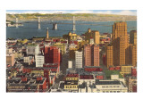 Downtown with Oakland Bay Bridge, San Francisco, California Prints