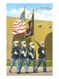 Marine Color Guard, San Diego, California Prints