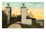 Toreingang, Cliff Walk, Newport, Rhode Island Kunstdrucke