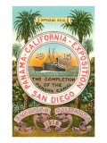 Seal of the 1915 Exposition, San Diego, California Posters