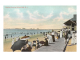 Boardwalk and Beach, Watch Hill, Rhode Island Poster