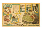 Greetings from Green Bay, Wisconsin Premium Giclee-trykk