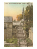 Catholic Church, Stone Steps, Harper's Ferry, West Virginia Prints