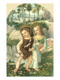 Jesus and John the Baptist as Children Poster