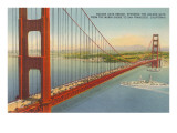 Marin Shore, Golden Gate Bridge, San Francisco, California Prints