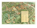 Pictorial Map of Balboa Park, San Diego, California Posters